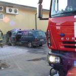 Šalia Pagėgių pasienio veterinarijos posto užsiliepsnojo automobilis