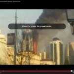 Čečėnijos sostinėje sudegė dangoraižis(video)