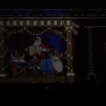 Kalėdų pasaka ant Vilniaus katedros fasado