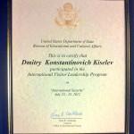 Žinomiausias Kremliaus propagandistas D.Kiseliovas stažavosi Amerikoje