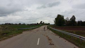 Sugadintas kelias kauno rajone