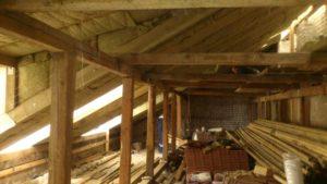 Naujai sumontuoto stogo šiltinimas