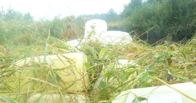 Ištuštėjusios Kauno rajono sodybos tampa sąvartynais tarai nuo herbicidų, o pakelėse verčiamos kitokios atliekos
