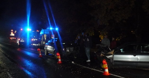 Netoli Vilkijos kaktomuša susidūrė du automobiliai- vieno vairuotojas neblaivus