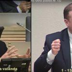 """Kaip G.Landsbergis bandė užmauti Skverneliui  Karbauskio """"kailį""""(video)"""
