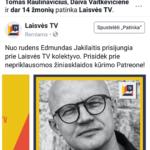 D.Jančaras: visi konservatorių žurnalistai emigruos į Laisvės TV ir tai logiška.