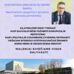 Vasario 28d į Pagėgius atvyksta Nacionalinio saugumo ir gynybos komiteto pirmininkas V.Bakas