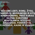 Kažkoks žmogaus teisių stebėjimo institutas ieško žmonių, kurie informuotų apie neapykantos kurstymą- už susitikimą mokės 50 EUR