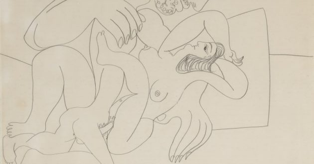 Picasso erotinis eskizas aukcione parduodamas už pusę milijono svarų sterlingų