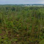 Internete pasirodė lietuviškojo tornado padarinių vaizdai