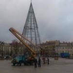 Sausio 9d. Vilniečiai galėjo pamatyti Kalėdų eglės skeletą