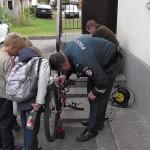 Dienos be automobilio proga Pagėgiuose  buvo ženklinami dviračiai(video)