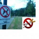 Pagėgių rūkaliams teks būti budriems, miesto parko teritorijos dalyje rūkyti draudžiama