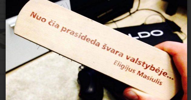 """Rinkimų istorija. E.Masiulis 2004 m.: """"nuo čia prasideda švara valstybėje..."""""""