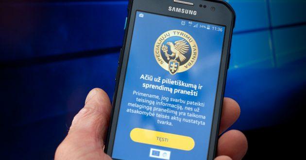 """STT ragina apie korupcijos atvejus pranešti mobiliąja programėle ,""""Pranešk STT"""""""