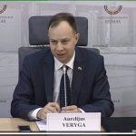 Seimo nario A.Verygos spaudos konferencija apie ruošiamas priemones alkoholio vartojimui mažinti.