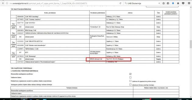 Lietuvos daugiabučių renovacijos optimalų finansavimą  vertins įmonė registruota Budapešte