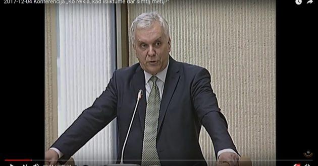 Profesorius Alvydas Jokūbaitis:  pagerbkime tylos minute konservatorių partiją(video)