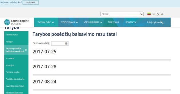 Už 70 000Eur atnaujina Kauno rajono savivaldybės internetinė svetainė tinkamai neveikia