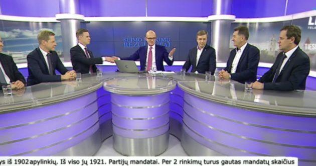 Kaip Seimo rinkimų rezultatų laidą vedė žurnalistas E.Jakilaitis- anot jo, net arkliui aišku ką turėjo daryti R.Karbauskis