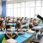 Kinijoje  vaikai pradėjo eiti į mokyklą