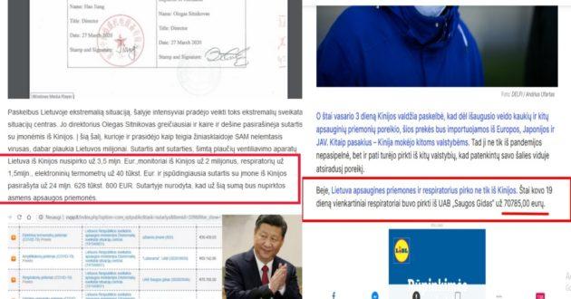 Panika valdžios koridoriuose, bandoma švelninti informaciją apie milijonines sutartis su Kinija