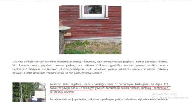 Lankymąsis parduotuvėse Kauno rajono socialiniams darbuotojams pripažintas darbu padidintoje rizikoje,už tai priedai prie algos.