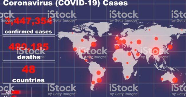Nuotolinė geografijos pamoka, moksleiviams tenka apibūdinti koronavirusinę valstybių padėtį