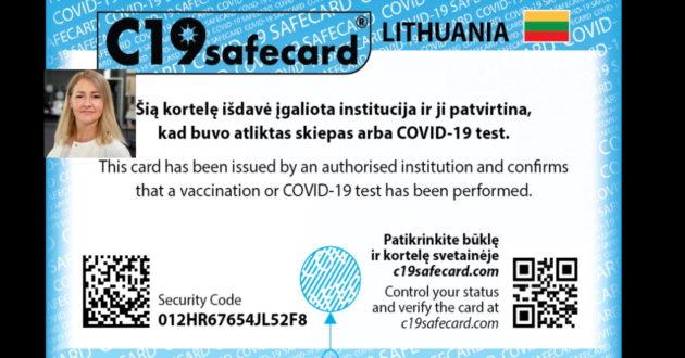 Lietuvos įmonė paviešino būsimas Covid19 skiepų korteles. Sistema bus paleista Liepą